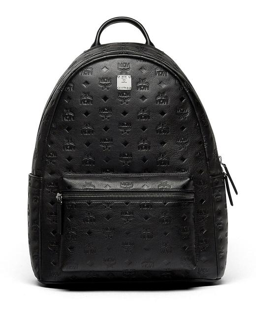 Item - Ottomar Small Embossed Monogram Black Faux Leather Backpack