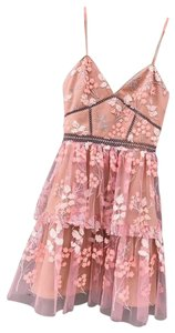 dbe3a2703314 self-portrait short dress pink on Tradesy
