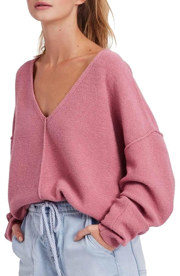 1b1a0478d0a Free People Take Me Places Pink Sweater - Tradesy