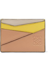 Loewe Puzzle textured-leather cardholder