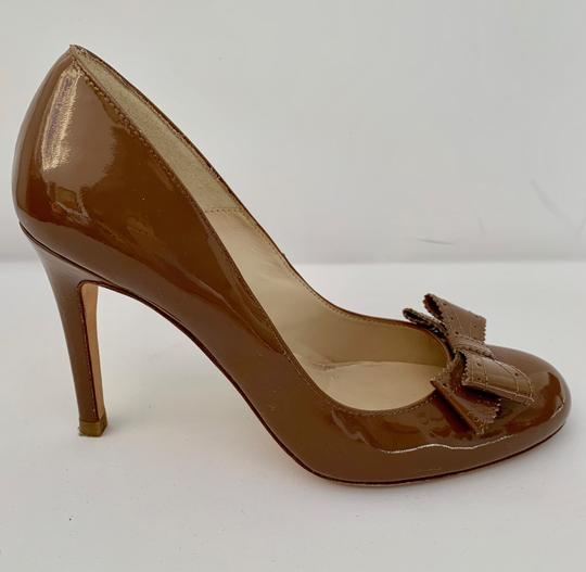 L.K. Bennett Stiletto Sexy Strappy Bow Brown Pumps Image 1