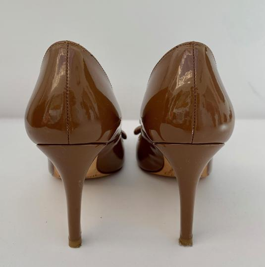 L.K. Bennett Stiletto Sexy Strappy Bow Brown Pumps Image 3