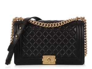 Chanel Ch.q0313.08 Gold Hardware Quilted Cross Body Bag