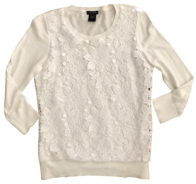 Preload https://img-static.tradesy.com/item/25184397/ann-taylor-white-lace-layer-tunic-size-4-s-0-1-650-650.jpg