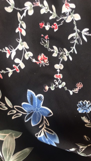 Parker Tops Open Shoulder Tops Top black with multi color florals in pink blue yellow & red Image 9