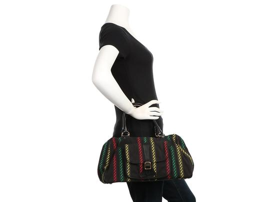 Balenciaga Bg.q0312.10 Red Green Yellow Satchel in Black Image 10