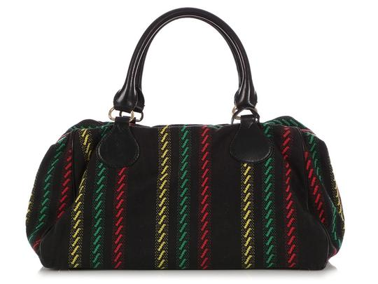 Balenciaga Bg.q0312.10 Red Green Yellow Satchel in Black Image 3
