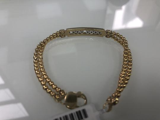 n/a New 14k Gold Beaded Bracelet W Sliding Diamonds Image 1