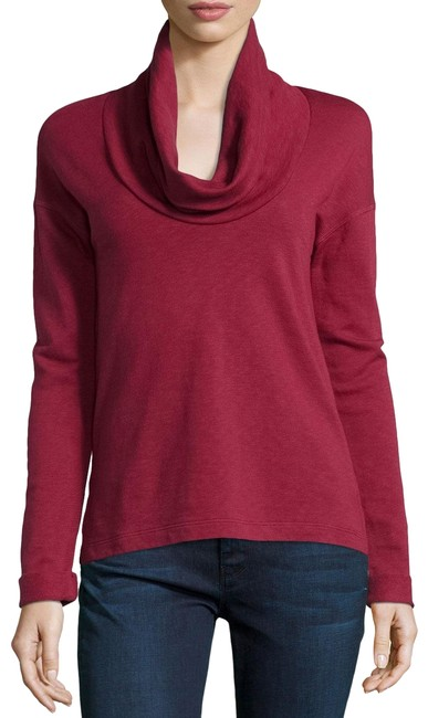 Item - Cowl-neck Long-sleeve Fortune Red Sweater
