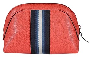Gucci Gucci Women's Web Leather Cosmetic Bag Coral Red 339558