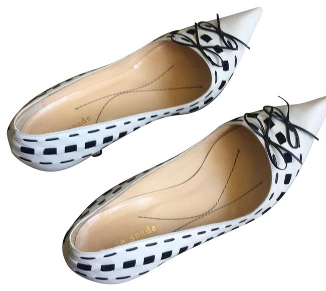 Item - Black /White Pointed Made In Italy with Bow Detail Formal Shoes Size US 8 Regular (M, B)