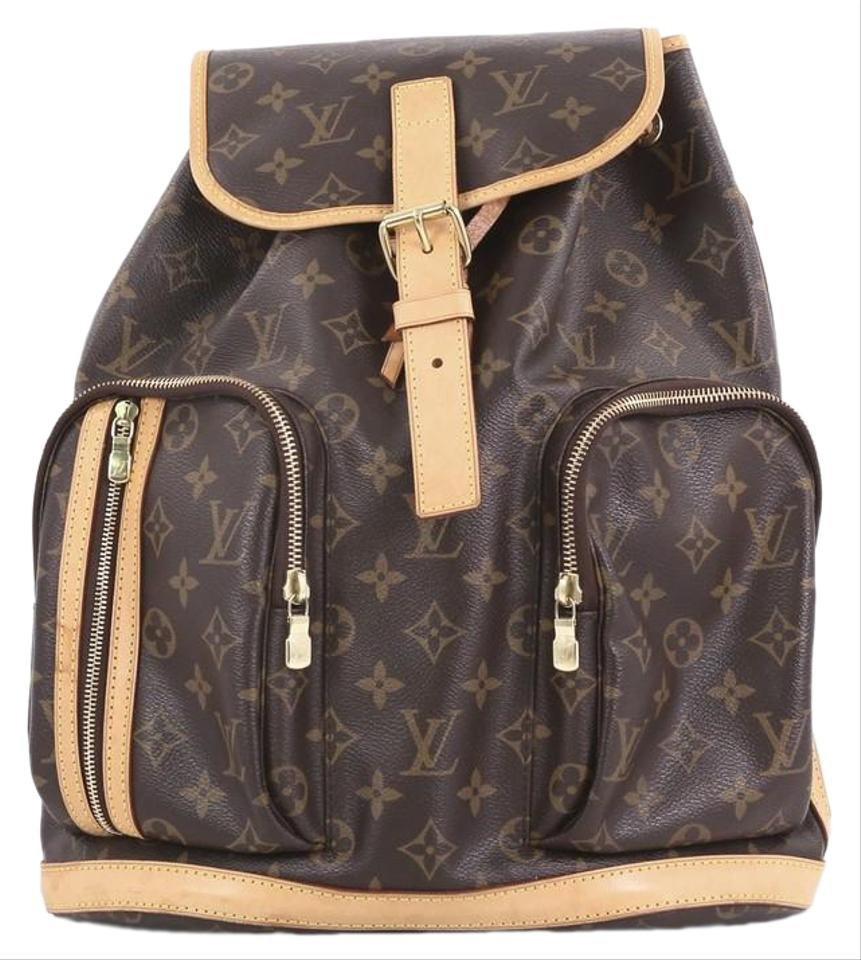 e36d3223d656 Louis Vuitton Bosphore Monogram Brown Coated Canvas Backpack - Tradesy