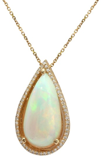 Preload https://img-static.tradesy.com/item/25184697/yellow-gold-766ctw-natural-opal-and-diamond-in-14k-solid-pendant-charm-0-1-540-540.jpg