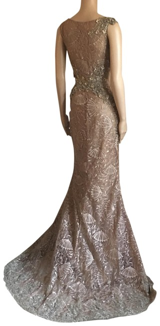 Unbranded Bronze Prom Party Long Formal Dress Size 6 (S) Unbranded Bronze Prom Party Long Formal Dress Size 6 (S) Image 2
