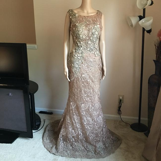 Unbranded Bronze Prom Party Long Formal Dress Size 6 (S) Unbranded Bronze Prom Party Long Formal Dress Size 6 (S) Image 3