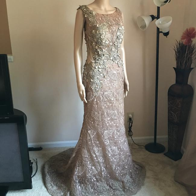 Unbranded Bronze Prom Party Long Formal Dress Size 6 (S) Unbranded Bronze Prom Party Long Formal Dress Size 6 (S) Image 4