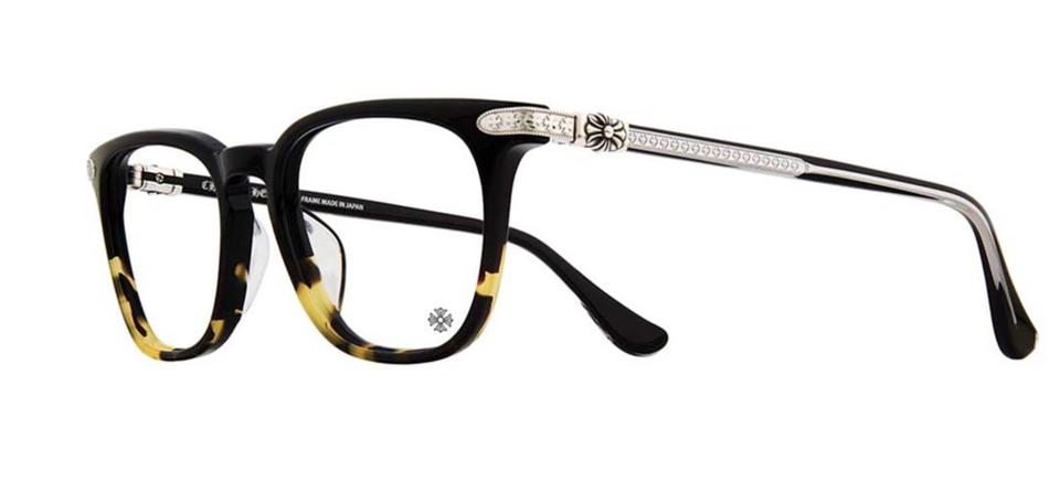 67b93ce5f46 Chrome Hearts New CHROME HEARTS Eyeglasses GISS BMZ-SS 54-20 149 Black  Maize ...