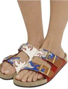 Isabel Marant Coachella Gail Birkenstocks Flame Gold, Red, Blue, White, Metallic, Tan, Cognac, Brass Sandals