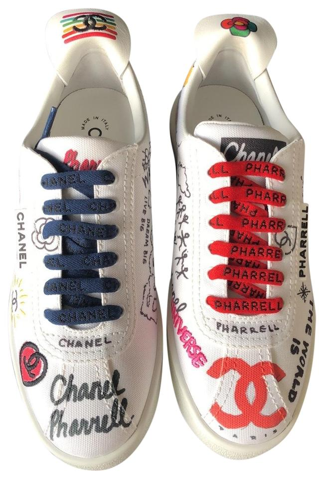 new products d0142 a2f31 Chanel White Pharrell Limited Edition Sneakers Size EU 37 (Approx. US 7)  Regular (M, B)