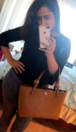 Tory Burch Tote in Camel Brown Image 10