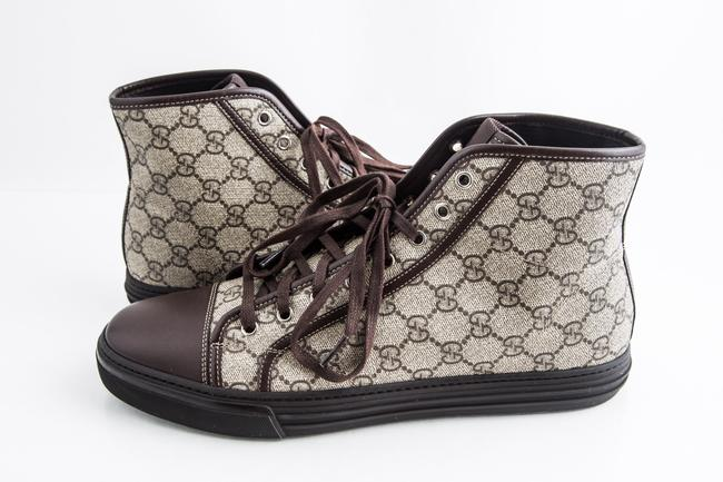 Gucci Brown Gg Plus Coated Canvas High