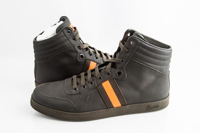 Item - Green Gg Viaggio Collection High-top Sneaker Military Shoes