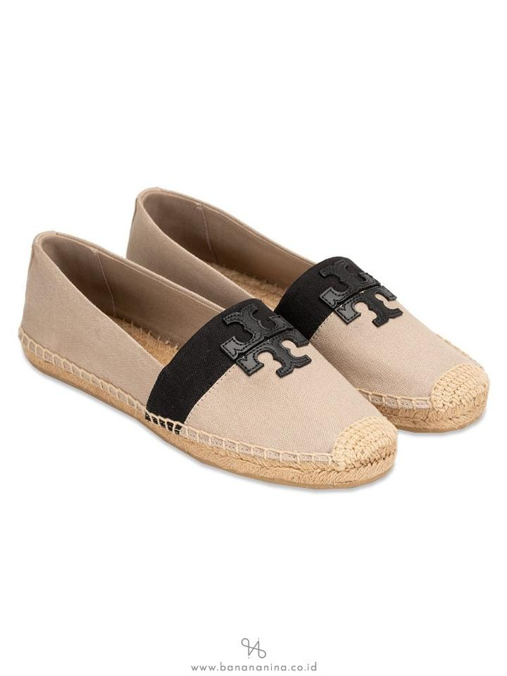 58eaff5ca Tory Burch Natural Black Weston Espadrille Flats Size US 8.5 Regular ...