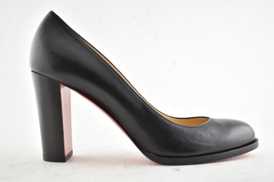new concept 9c26f fe7b0 Christian Louboutin Black London Buche 85 Nappa Shiny Leather Heel Stiletto  Pumps Size EU 40 (Approx. US 10) Regular (M, B)
