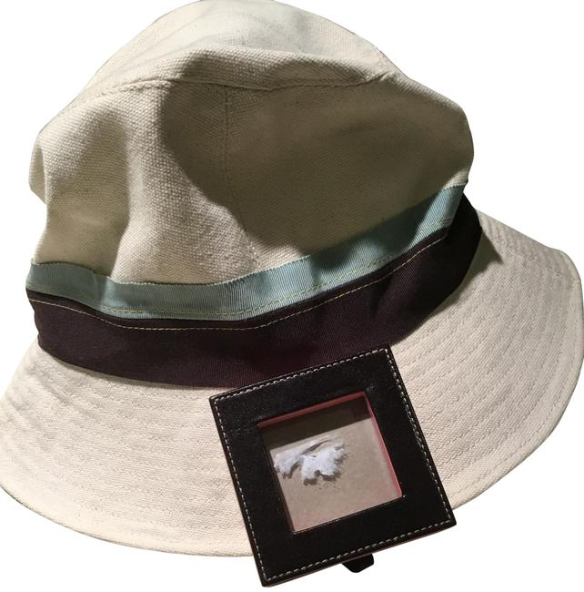 Item - Beige Tiffany Blue and Brown Classic Hat