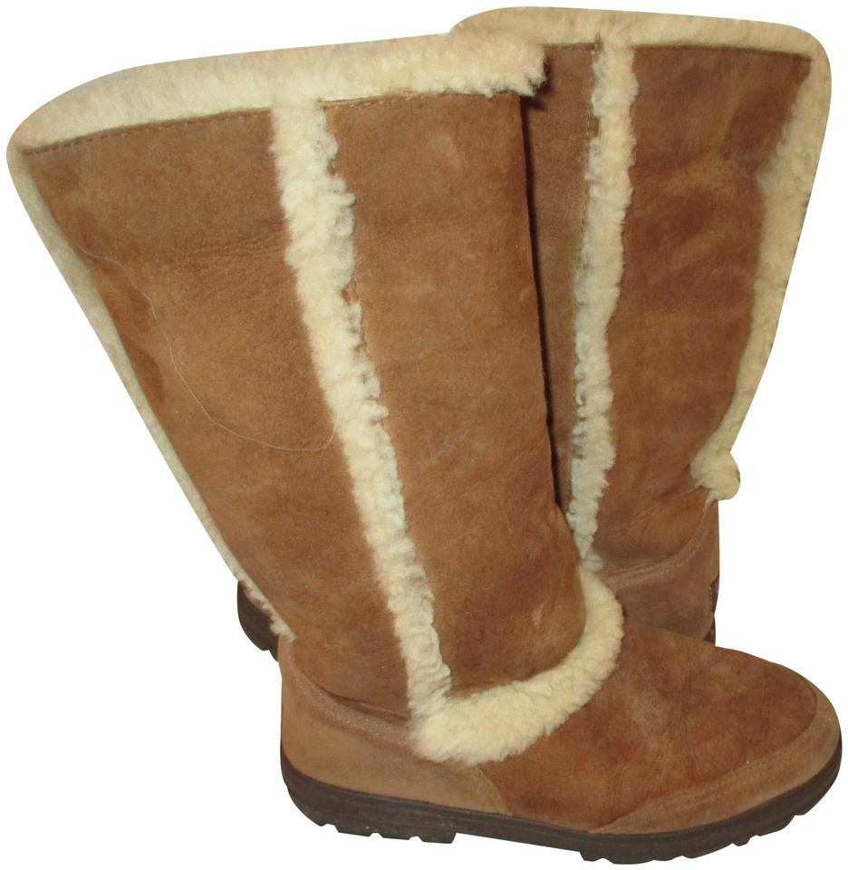 51d73a6a56 UGG Australia Chestnut ~ Sundance Ii Sheepskin Leather Winter 5325 ~  Boots/Booties Size US 8 Regular (M, B)