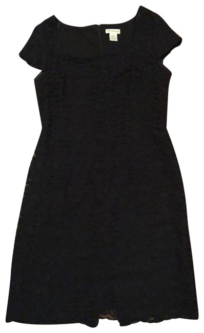 Preload https://img-static.tradesy.com/item/25185192/ann-taylor-black-lace-cap-sleeves-modern-classic-mid-length-night-out-dress-size-12-l-0-1-650-650.jpg