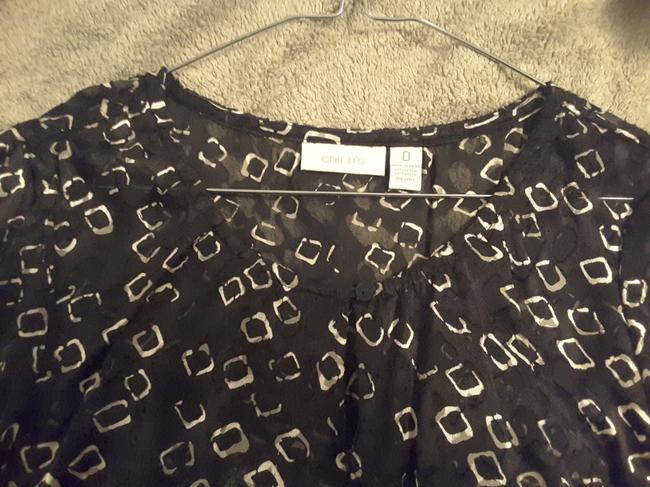 Chico's Top Cream/Black Image 2