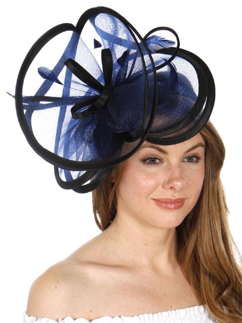 Unbranded Blue Black New Formal Hat Unbranded Blue Black New Formal Hat Image 1