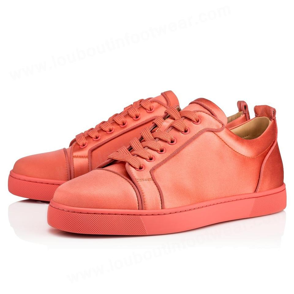 check out a1cd1 41f96 Christian Louboutin Orange Rantulow Orlato Charlotte Woman Flat Satin Lace  Up Low Top Sneakers Size EU 37 (Approx. US 7) Regular (M, B)