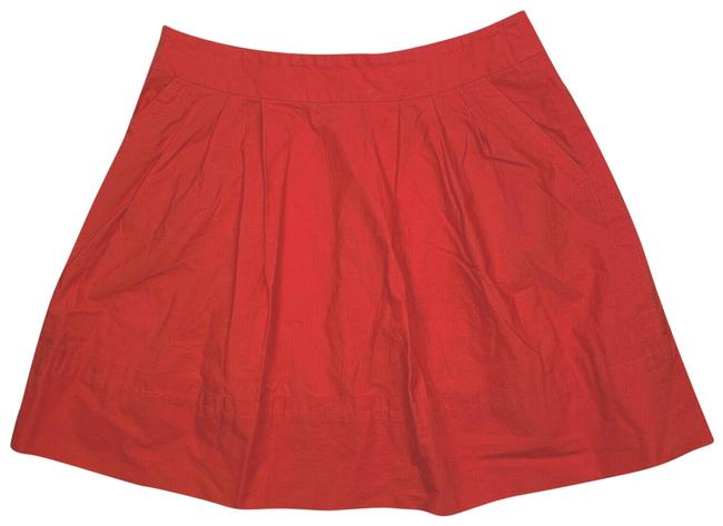 Item - Pink Line Cotton Salmon Red Women Skirt Size 10 (M, 31)