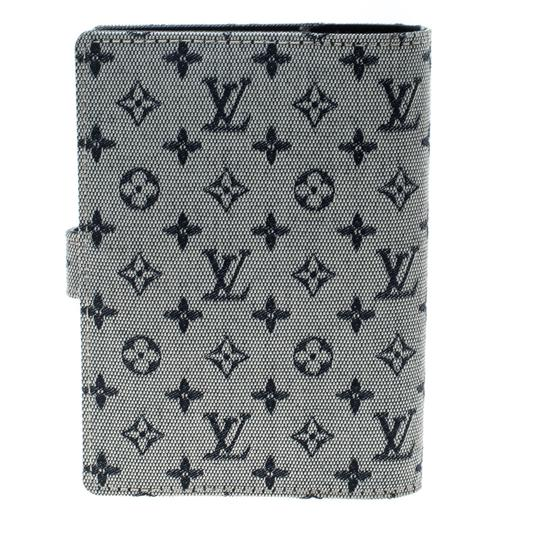 Louis Vuitton Grey Monogram Canvas Small Ring Agenda Cover Image 1