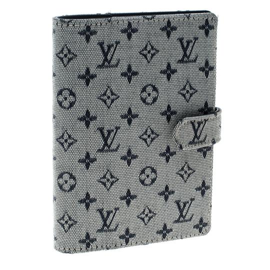 Louis Vuitton Grey Monogram Canvas Small Ring Agenda Cover Image 5