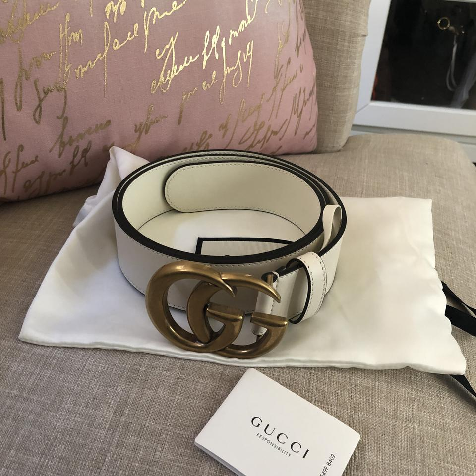 5e831d9ca7b Gucci Gucci Double G Marmont Belt White 1.5 Width 95CM 34in Image 7.  12345678