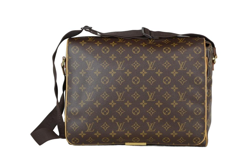 1b177a5c6b04 Louis Vuitton Abbesses Monogram M45257 (Gum String Broken) Brown Canvas  Cross Body Bag