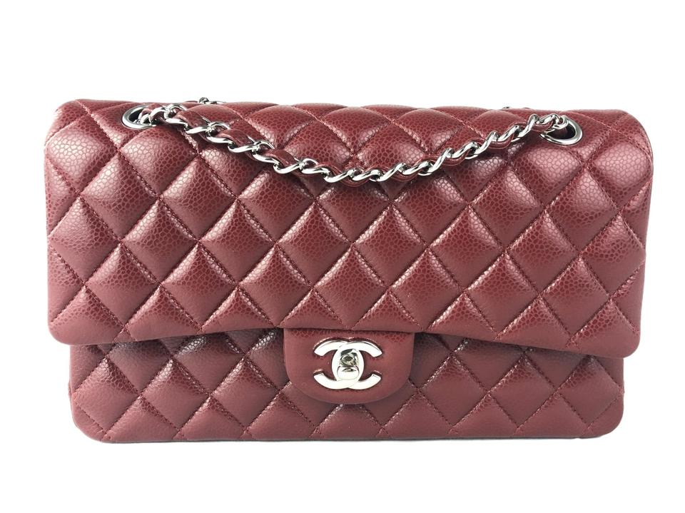 b00a30991539 Chanel Caviar Classic Double Flap Red Calfskin Leather Cross Body ...
