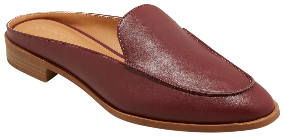52725a36624 Universal Thread Backless Loafers Faux-leather Burgundy Mules Image 0 ...