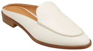 Universal Thread Backless Loafers Faux-leather White Mules