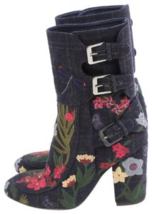 Laurence Dacade Floral Black Boots