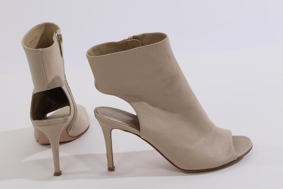 40c10cd3a65e8 Gianvito Rossi Cream Leather Peep Toe Cut Out Ankle Boots/Booties Size US  7.5 Regular (M, B) - Tradesy