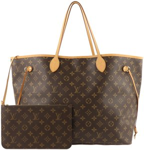 Louis Vuitton Neverfull Gm Monogram Canvas Tote in Brown