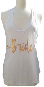 Mighty Fine Wedding Top White/Rose Gold