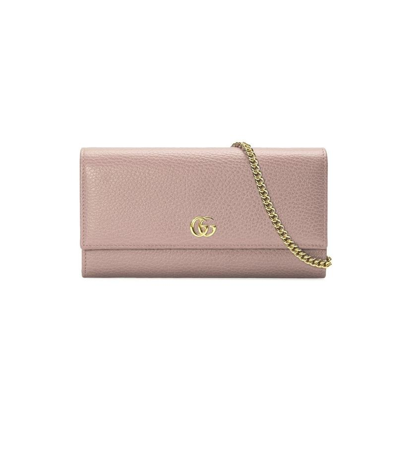 6fa9ab5c123 Gucci Marmont New Petite Wallet On Chain Pink Leather Clutch - Tradesy