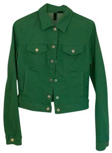 United Colors of Benetton Kelly Green Womens Jean Jacket