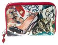 Christian Louboutin Multicolor Trash Print Patent Leather Panettone Spiked Zipper Coin Pur