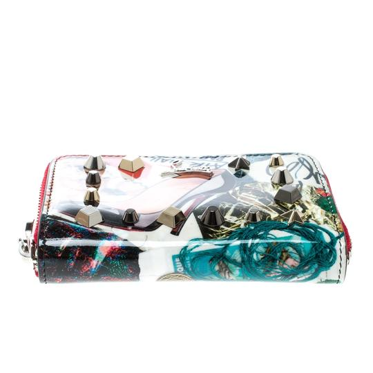Christian Louboutin Multicolor Trash Print Patent Leather Panettone Spiked Zipper Coin Pur Image 4